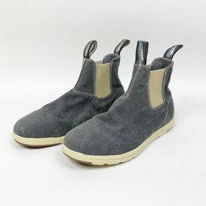 BLUNDSTONE Washed Canvas Chelsea Boots Gray